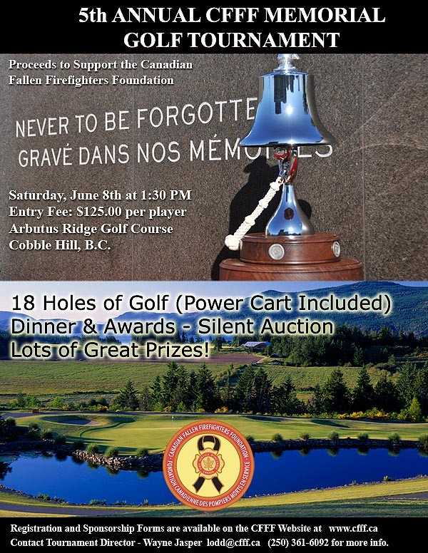 5th Annual Canadian Fallen Firefighters Memorial Golf Tournament
