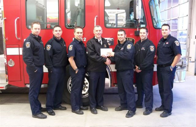 Brampron Firefighters Present the CFFF with a cheque for $5000