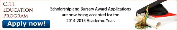 CFFFEP 2014 Scholarship and Bursary Awards Applications
